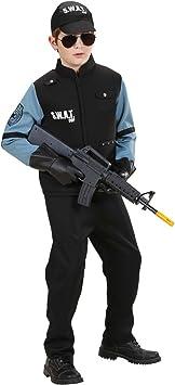 Amakando Disfraz policía Chico Traje SWAT niño L 158 cm años 11 ...