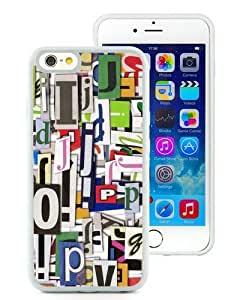 Colorful Clippings White iPhone 6 (4.7) TPU Case,personalized design together with Excellent protection