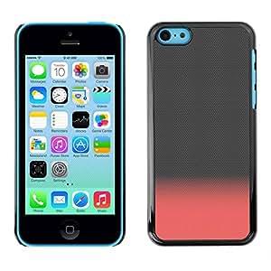 TopCaseStore / la caja del caucho duro de la cubierta de protección de la piel - Pink Peach Gray Clean Minimalist - Apple iPhone 5C