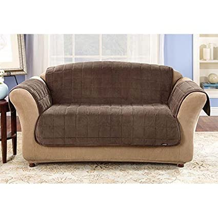 Amazon Com Sure Fit Deluxe Sofa Throw Cover In Sable 50 Backdrop