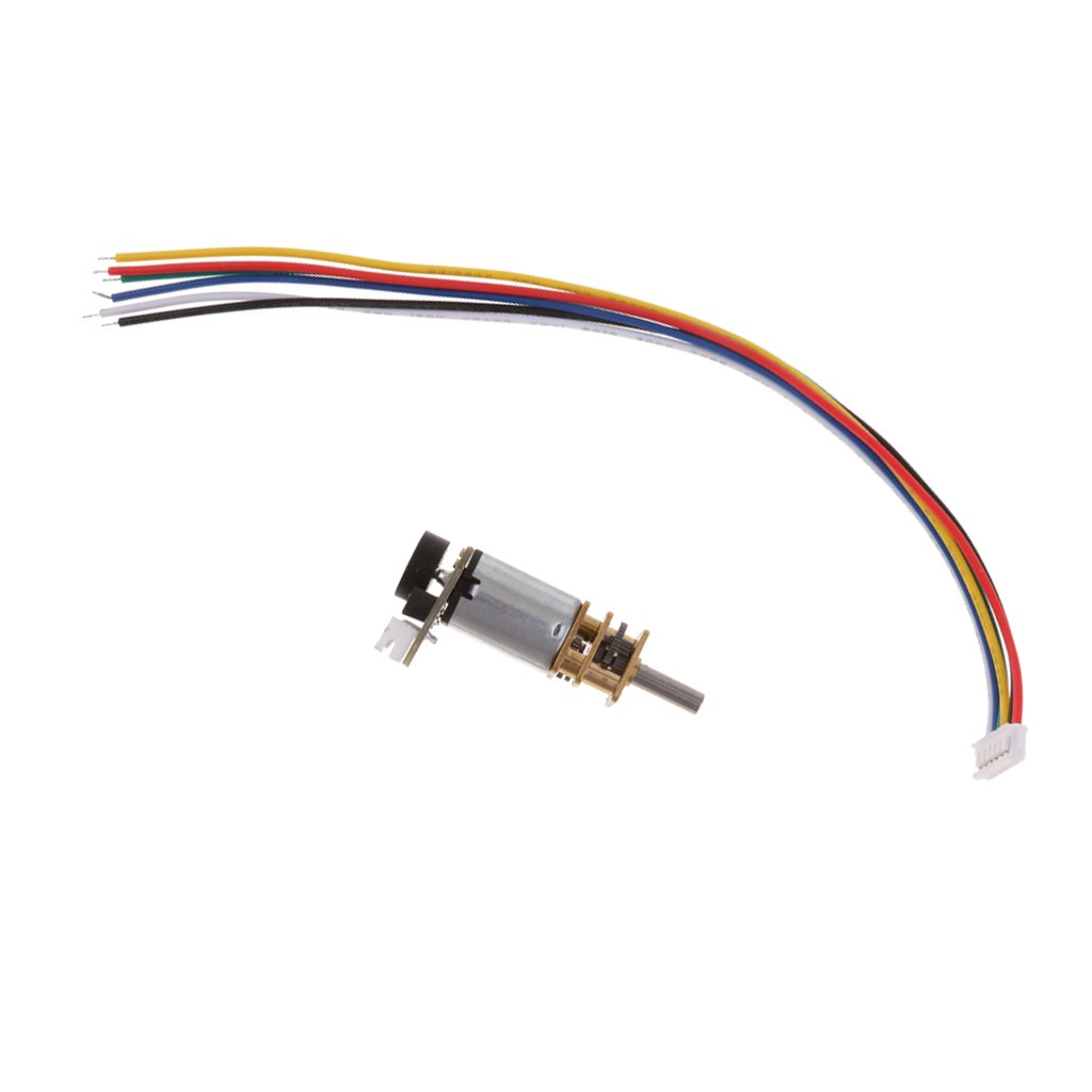 100rpm MagiDeal DC 12V Micro Gear Motor Electric Speed Reduction Motor Gearbox Coder