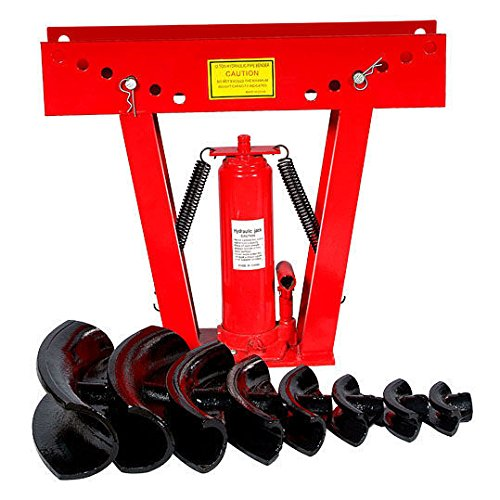 16 Ton Hydraulic Pipe And Tubing Bender Roll Cage 8 Dies Heavy Duty New