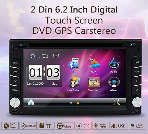 New Version ! 800MHZ CPU !!! GPS Navigation Car Radio 6.2 Inch Car DVD Player Touch Screen Stereo Bluetooth Autoradio In Dash Headunit Car Video Player by EinCar (Image #2)