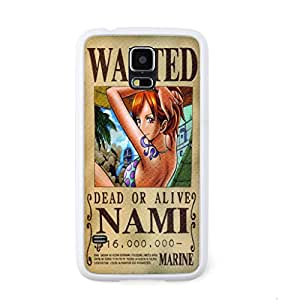 ecenter - Dibujos animados One Piece Nami 6 blanco Bumper plastique + cas de TPU couverture for Samsung Galaxy S5 Teléfono Móvil