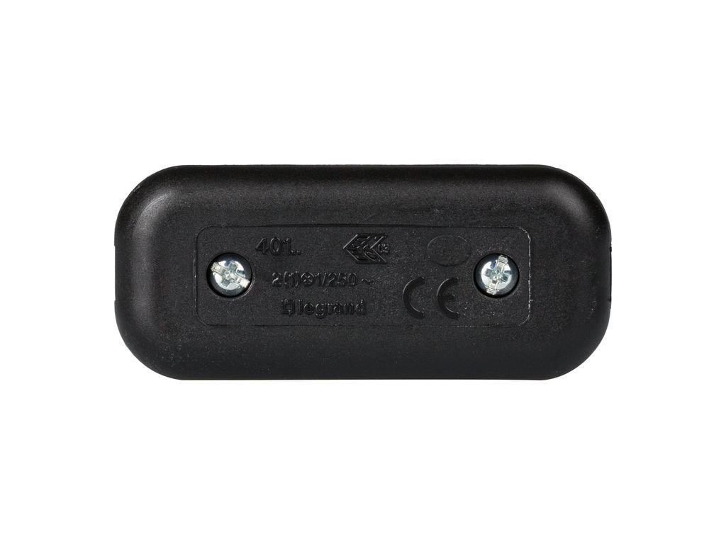 legrand 040194E Interruptor Estrecho de Paso para Lámpara, 250 V, Negro