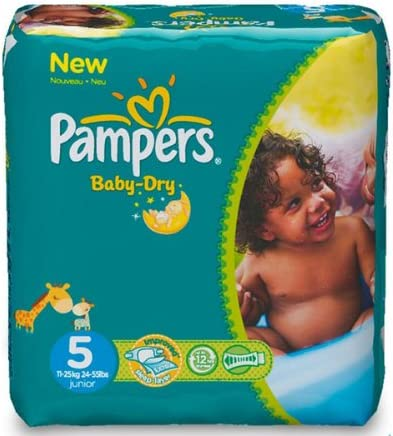 PAMPERS Pañales Baby-Dry Talla 5 Junior (11-25 kg) - Pack ...