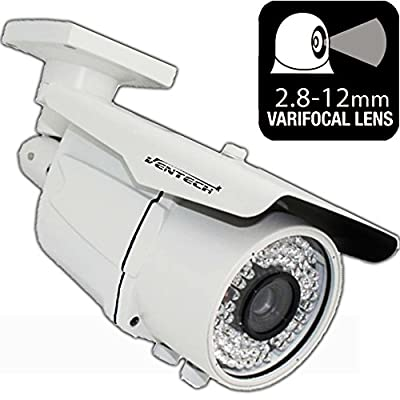 Ventech HD 1000TVL ((72 IR LED)) AWESOME Quality Video CCTV cmos 960h Bullet Camera Home Security Day/Night Infrared 72IR night Vision Indoor Varifocal 2.8mm-12mm from VENTECH SECURITY