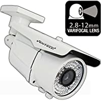 Ventech HD 1200TVL 72 IR LED AWESOME Quality Video CCTV cmos 960h Bullet Camera Home Security Day/Night Infrared IR night Vision Indoor Varifocal 2.8mm-12mm