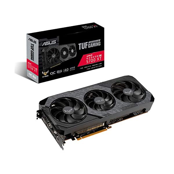 ASUS TUF Gaming 3 AMD Radeon RX 5700XT OC Edition Gaming Graphics Card (PCIe 4.0, 8GB, GDDR6, HDMI, DisplayPort, Axial…