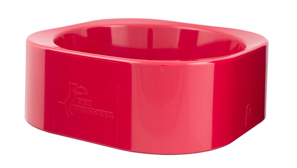 Red ciotola solo per Petweighter Large Heavy Dog Bowl non Spill Won' t Move. Peak Pet Products Ltd