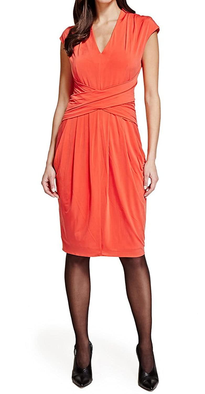 MARKS & SPENCER PER UNA Speziale Pleated Draped Bodycon Dress T62/6091H