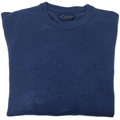 Polo Ralph Lauren Men's Crewneck Wool Sweater (XL, ShaleBlue) by Polo Ralph Lauren