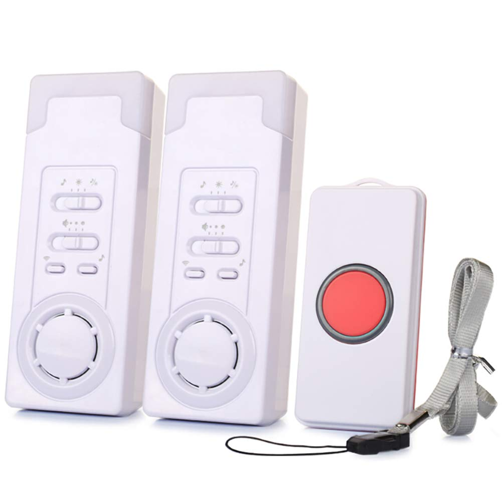 EC VISION Wireless Caregiver Pager, Personal Pager System Emergency Care Alarm Call Button Wireless Remote Nurse Alert System -500+ft Operating Range (2 in 1) by EC VISION