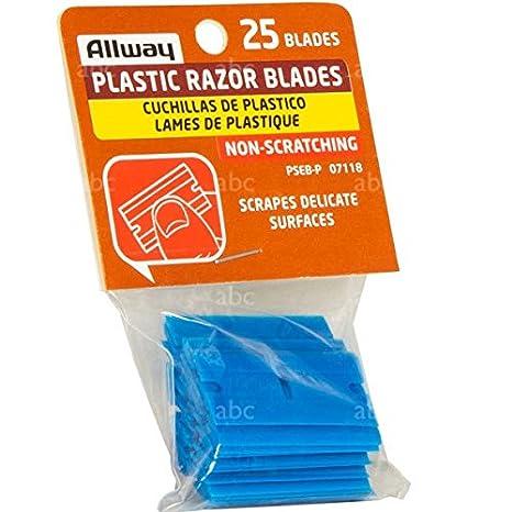 Amazon.com: Allway plástico cuchillas de afeitar – 25 por ...