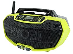 Ryobi P746 One+ 18-volt Lithium Ion Ac Dual-powered Amfm Stereo System With Usb & Bluetooth Technology (Battery, Charger, & Extension Cord Not Included Radio Only)