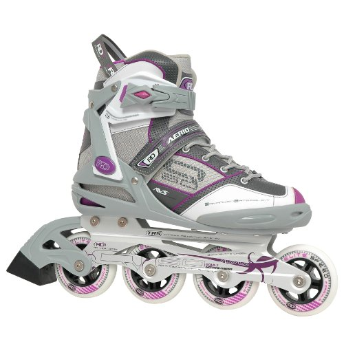 Roller Derby AERIO Q-60 Women's Inline (Purple, 8) (Elite In Line Skates)