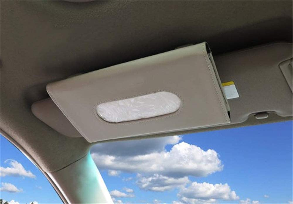 Paper Carton Black BANCHELLE Car Tissue Holder Hanging Paper Towel Clip PU Leather Tissue Box Paper Towel Box