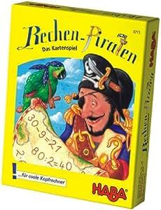 Haba 4715 Rechen Piraten - Juego de cartas infantil con piratas (en alemán)