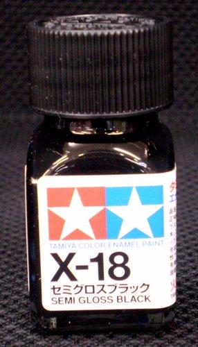 エナメル X-18 セミグロスブラック