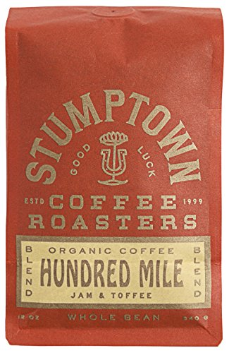 Stumptown Coffee Roasters Hundred Mile Whole Bean Organic Coffee, 12 Ounce Bag, Flavor Notes of Jam and Toffee