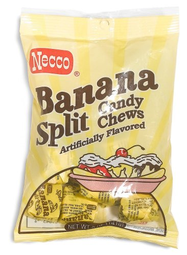 (Necco Banana Split Candy Chews, 5-Ounce Bags (Pack of 12))