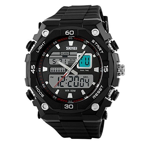 Relojes de Hombre Sport LED Digital Military Water Resistant Watch Digital Men RE0024