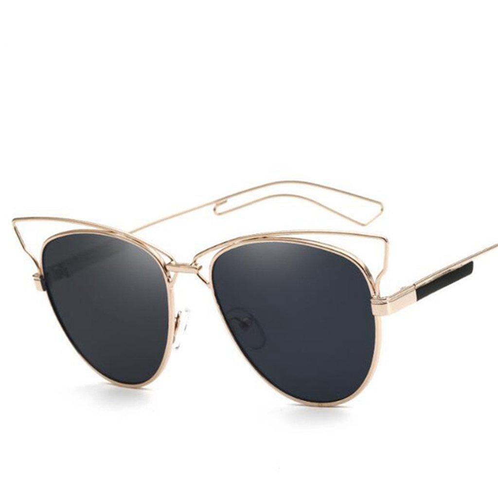 Wmshpeds L Europa e gli Stati Uniti in metallo occhiali cat, signore di moda occhiali da sole, la tendenza di occhi di gatto occhiali da sole