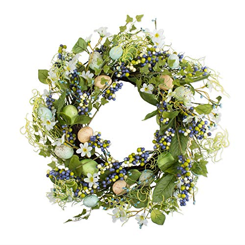 (DII CAMZ11137 Decorative Wreath for Front Door or Indoor Wall Décor to Celebrate Spring & Summer Season, 22