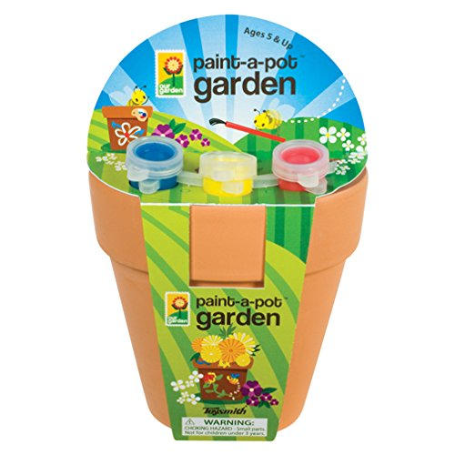 Toysmith Kids Paint A Pot Garden Kit