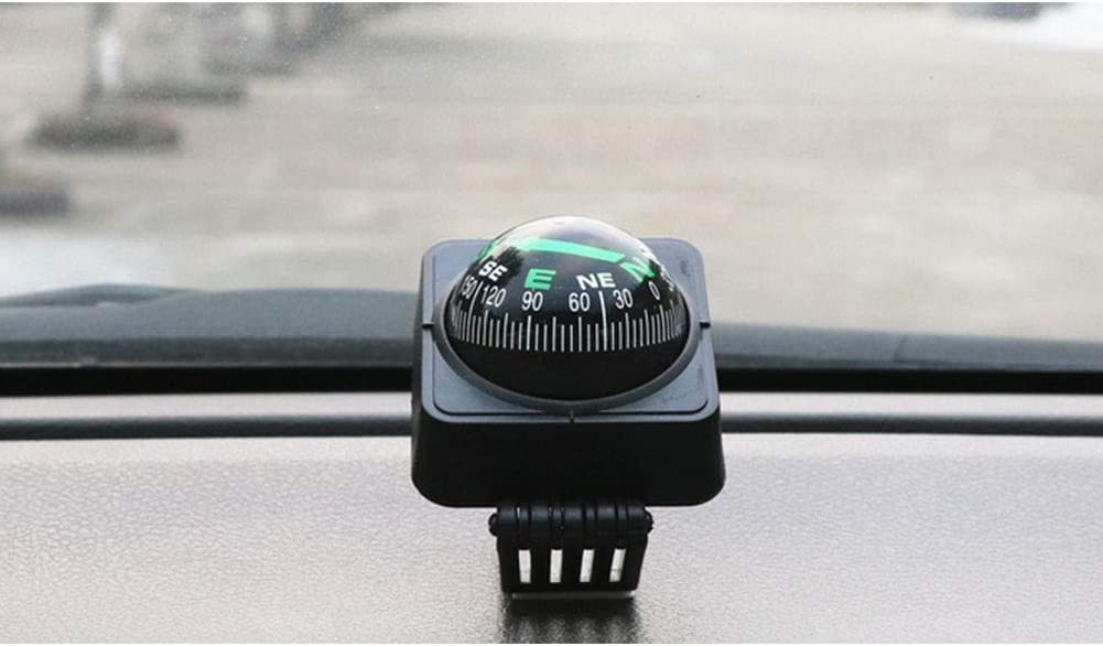 Liuliangmei Car Compass Universal Delicate Decoration Collapsible Ball Digital Auto Electronic Vehicle Digital Navigation Easy to Mount