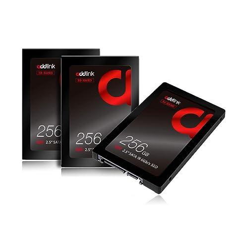 Addlink SSD 3 Paquetes S20 3D NAND SSD 256GB SATA III 6Gb/s 2.5 ...