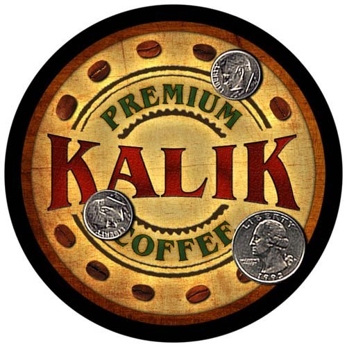 Used, Kalik Family Name Coffee Rubber Drink Coasters - 4 for sale  Delivered anywhere in USA