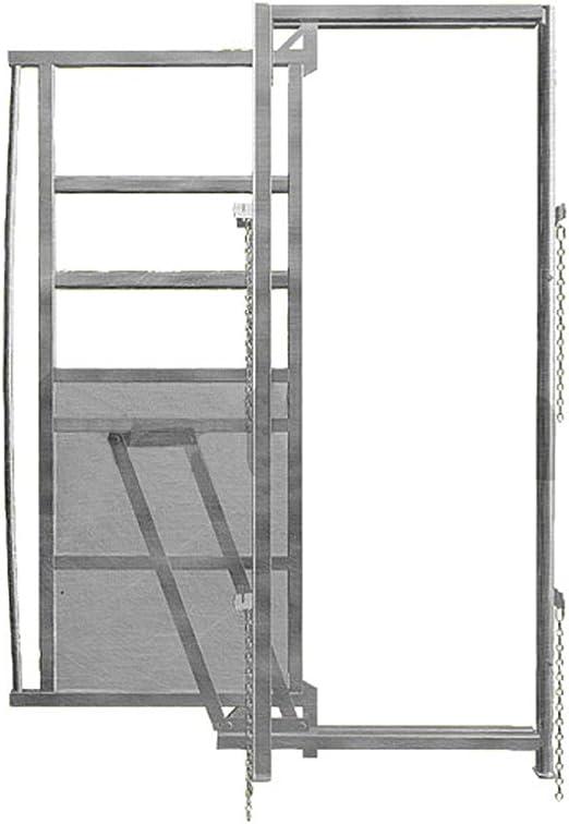 Puerta corredera marco, anchura 0, 90 m, altura 1, 95 m - galvanizas A07846: Amazon.es: Jardín