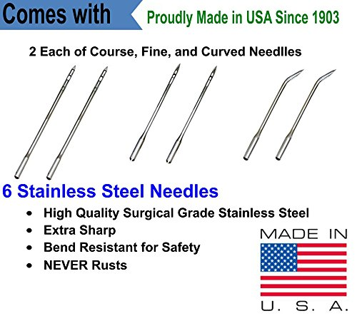 Leather, Canvas Sewing Awl Needle Refills, Replacement Threads, for Awl for All Stitching Tool - Made in USA