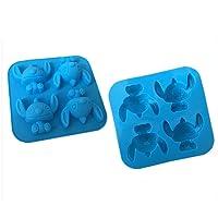 Sungpunet Stitch en silicone Moule à gâteau Moule à chocolat Savon Moule à dessin animé DIY Marzipans Outil