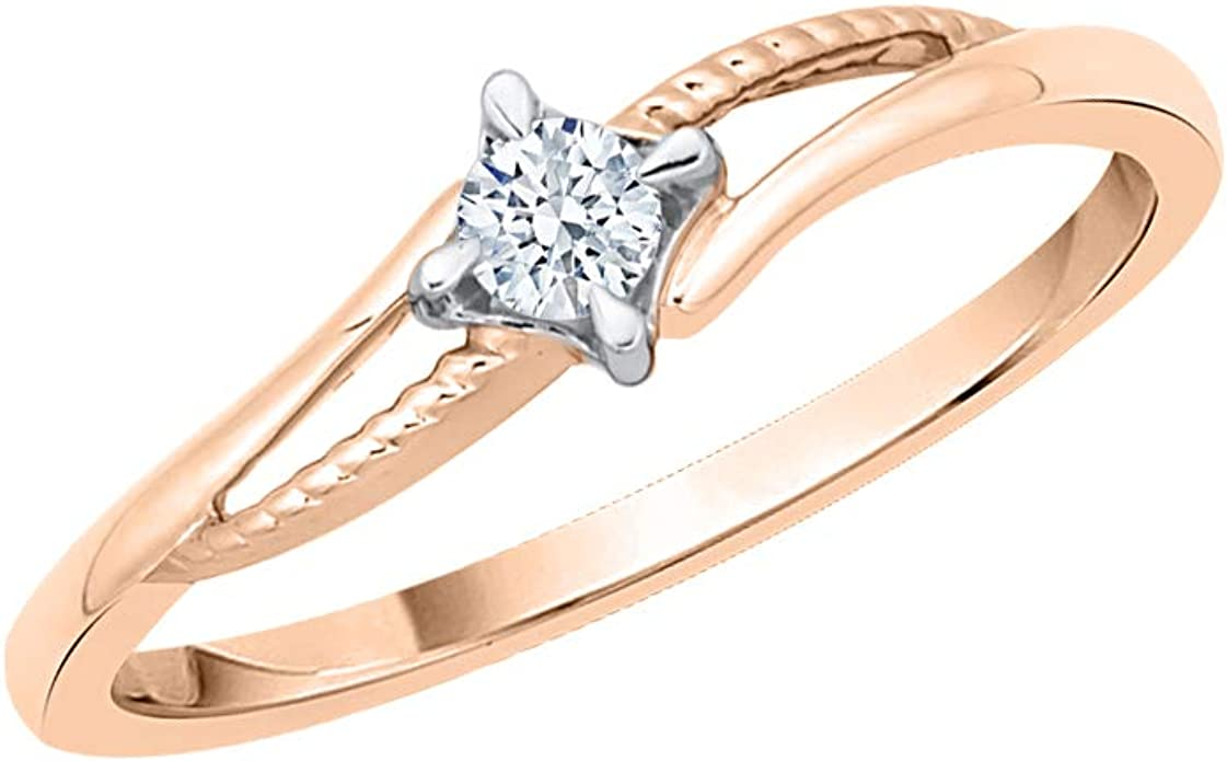 G-H,I2-I3 Size-5.25 3 Diamond Wedding Band in 10K Yellow Gold 1//10 cttw,