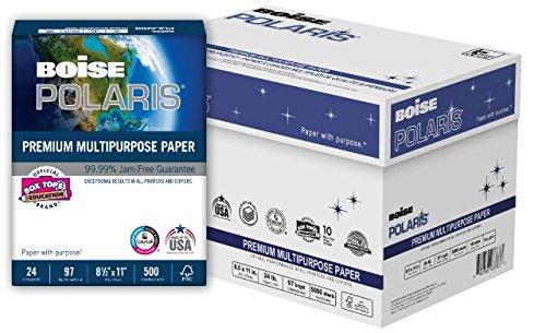Premium Presentation Paper Letter - BOISE POLARIS PREMIUM MULTIPURPOSE PAPER, 8 1/2