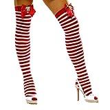 Rudolf Bow Striped Stockings