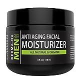Mens Moisturizer, Aftershave Lotion & Anti Aging Cream – Prevent Post Shave Irritation + Age Defense – All Natural – Derma-nu For Men – 4oz For Sale