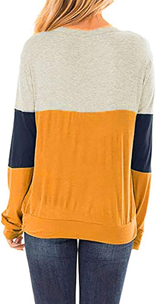 Nihewoo Womens Shirts Sweater Long Sleeve Shirts Scoop Neck Blouse Loose Tops Oversized Tunics Pullover Fall Shirts