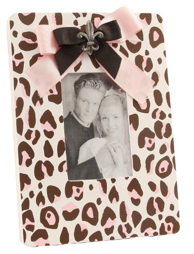 Young's Leopard Print Wood Photo Frame, 11.75-Inch