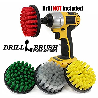Nylon Rotary Power Scrub Brush Cleaning Kit fits Your Cordless Drill