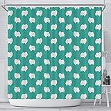 Breedink Pomeranian Dog Pattern Print Shower Curtains