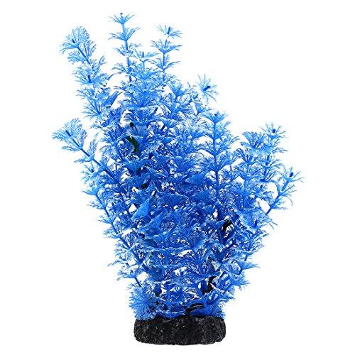 uxcell Plastic Aquarium Plant/Grass Decorative, - Blue Aquarium Decorations