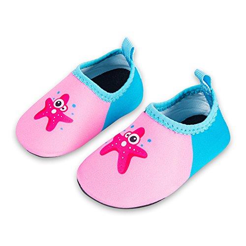 Lauwodun Baby Girls Boys Water Shoes Barefoot Aqua Sock Infant Toddler Walking Shoes for Beach Pool Indoor Outdoor