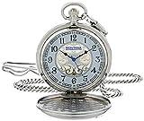 Montana Silversmiths WCHP40D Montana Time Analog Display Quartz Pocket Watch