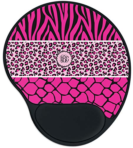 Triple Animal Print Mouse Pad with Wrist Support