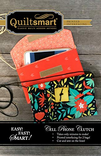 Quiltsmart QS10043 Cell Phone Clutch Fun Pack Pattern, None