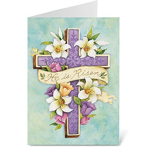 Easter Cross Scripture Easter Greeting Cards - Set of 8 (1 design), Large 5