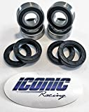 93-00 Honda TRX 300 Fourtrax 300 2x4 BOTH Front Wheel Bearing and Seal Kits (2x4 Only)